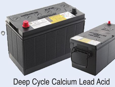Battery Deep Cycle (For Solar) Calcium 12VDC - 102 Ah (amp hour)